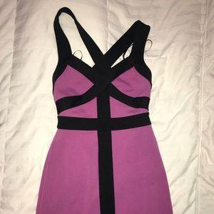 Purple Strappy Bodycon Dress